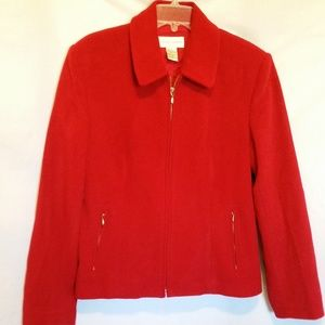 Casual Corner Red Wool Jacket Size 14